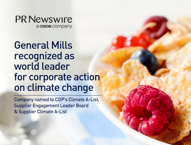 General Mills Recognized as World Leader for Corporate Action on Climate Change Photo