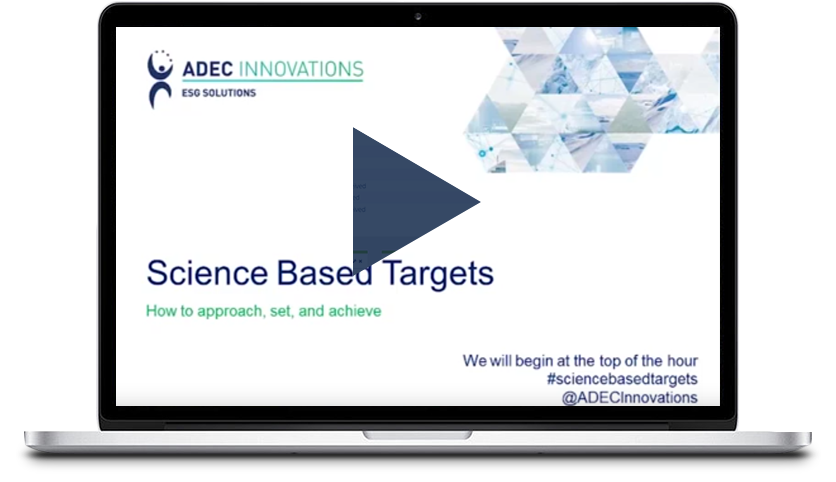 SCIENCE BASED TARGETS WEBINAR Thumbnail