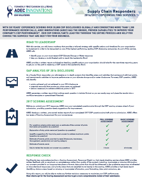 CDP Services One-Sheet Supply Chain Responders Image