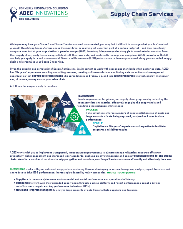 CDP Supply Chain Services One-Sheet Image